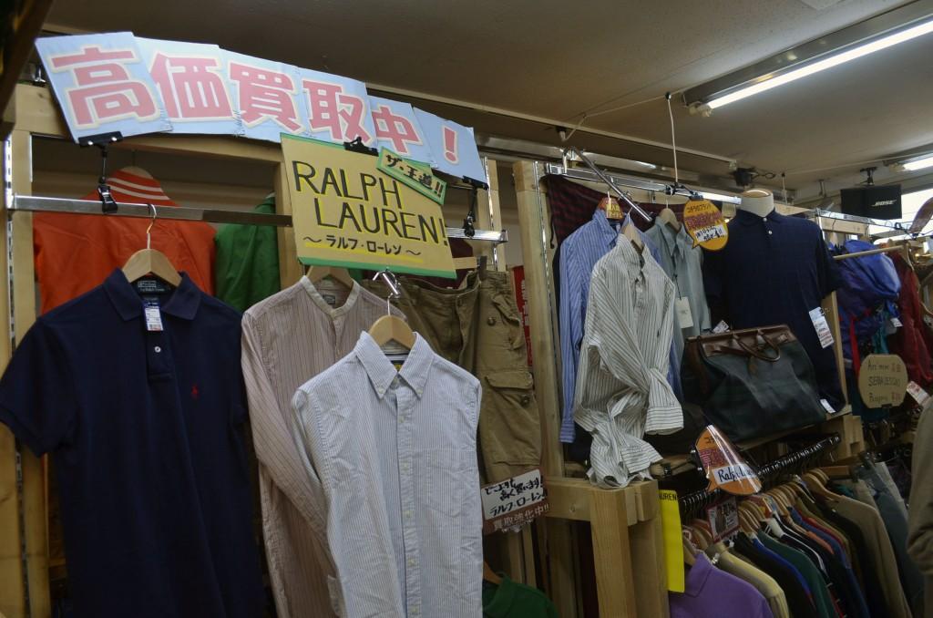 狭山ヶ丘店でもっとも売れているブランド「Ralph Lauren」のコーナー
